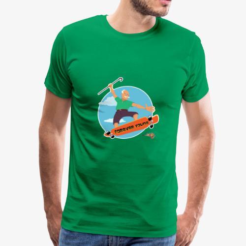 older man in longboard - Men's Premium T-Shirt