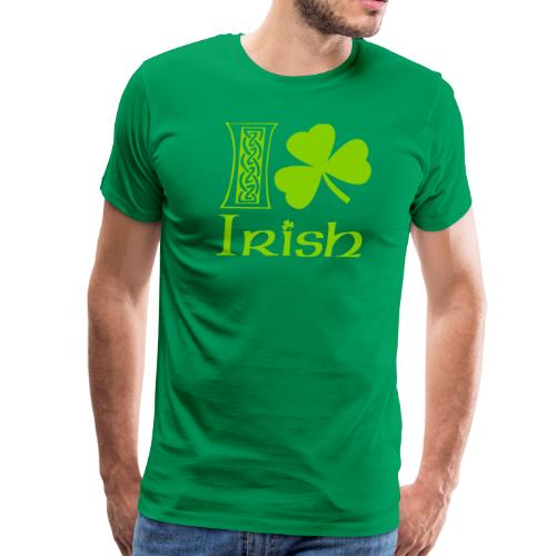 I Shamrock Irish Vector - Men's Premium T-Shirt