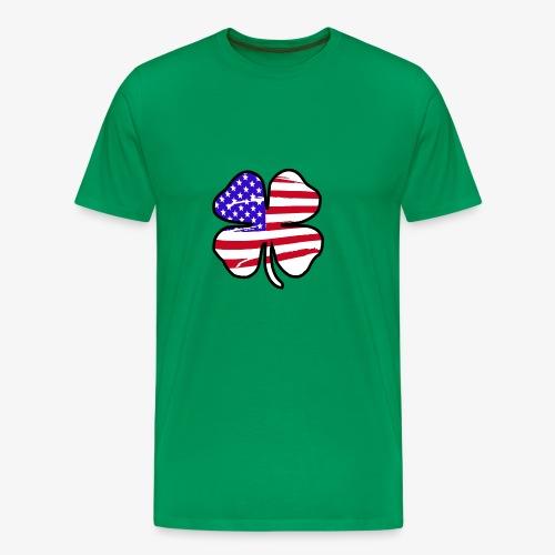 4 Leaf Lucky Clover Flag - Men's Premium T-Shirt
