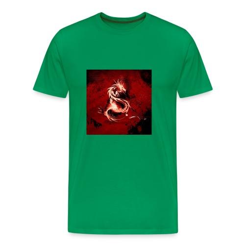 Blood Red Dragon ipad wallpaper - Men's Premium T-Shirt