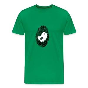 Chick Finger Print - Men's Premium T-Shirt