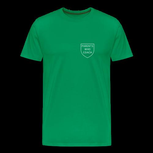Parents Who Coach crest on chest - Men's Premium T-Shirt