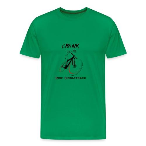 crank-singletrack-graphic - Men's Premium T-Shirt