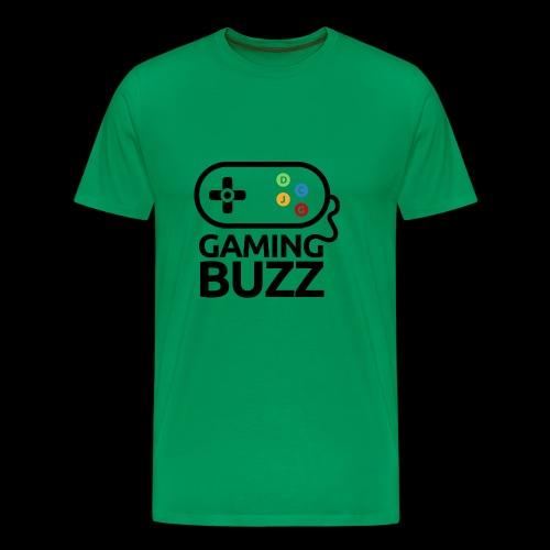 Gaming Buzz Logo - Black - Men's Premium T-Shirt
