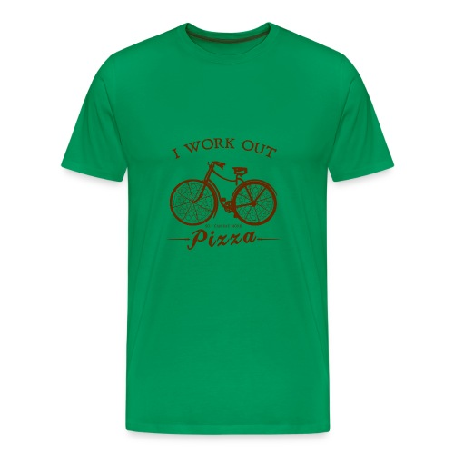 I WORK OUT FOR PIZZA - Men's Premium T-Shirt