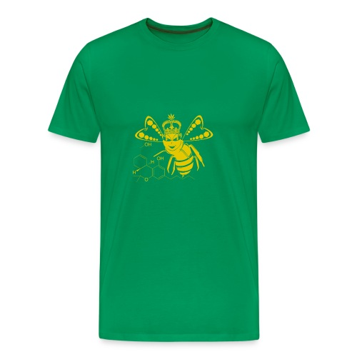 11HydroxyCompoud FemaleBee Shirt Gold Final 01 - Men's Premium T-Shirt