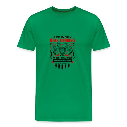 ApeIndex RockClimbing Black Red - Men's Premium T-Shirt