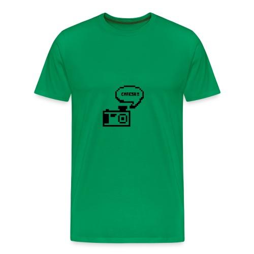 Retro Cam- Cheese - Men's Premium T-Shirt