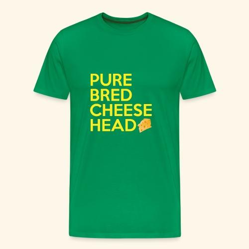 Pure Bred Cheese Head - Men's Premium T-Shirt