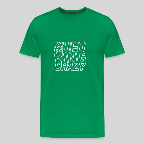 ALIENS WITH WIGS - #UFOKingCrazy - Men's Premium T-Shirt