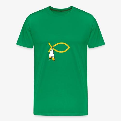 Jesus Fish (WAS) - Men's Premium T-Shirt