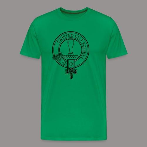 Twisted Kilt Society Crest - Men's Premium T-Shirt