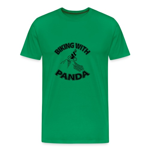 Biking with Panda - Men's Premium T-Shirt