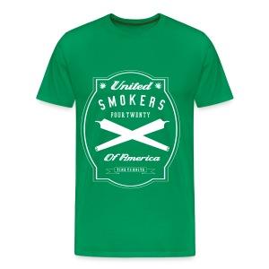 United Smokers of America - Men's Premium T-Shirt