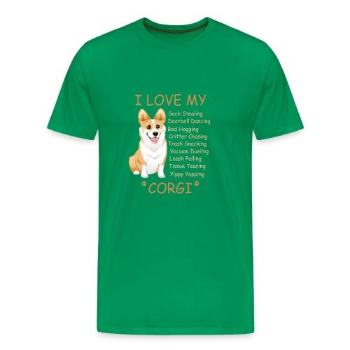 I Love My Corgi - Men's Premium T-Shirt
