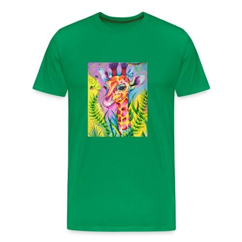 Spring Giraffe Hoodie - Men's Premium T-Shirt