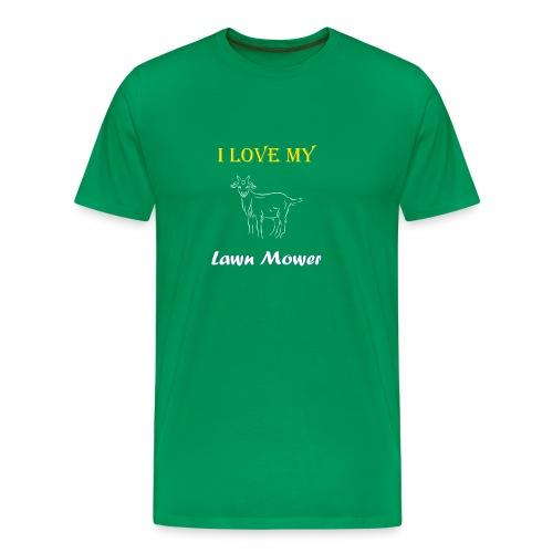 I Love my Lawn Mower Goat Tee - Men's Premium T-Shirt