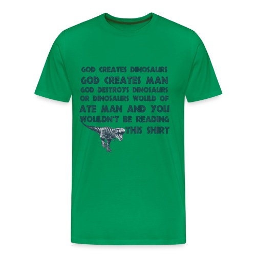 Funny Creation Dinosaur T Shirt - Men's Premium T-Shirt