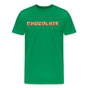Chocolate Horizontal Font - Men's Premium T-Shirt