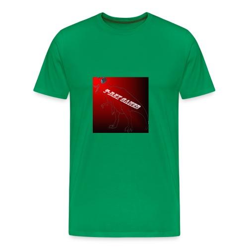 T-REX GAMER LOGO - Men's Premium T-Shirt