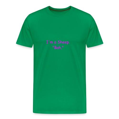 I'm a Sheep. Bah. - Men's Premium T-Shirt