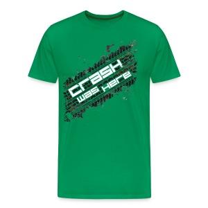 Crash Was Here (White) - Men's Premium T-Shirt