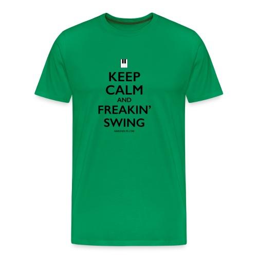 Freakin Swing (Black) - Men's Premium T-Shirt