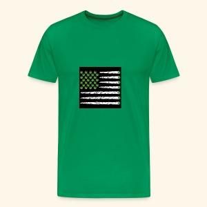 Weed American flag - Men's Premium T-Shirt