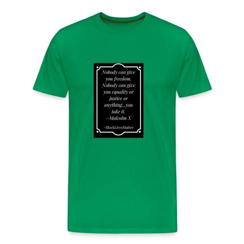 Black Lives Matter Malcolm X - Men's Premium T-Shirt