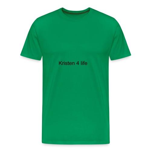 Kristen 4 life channel complete signature T-shirt - Men's Premium T-Shirt