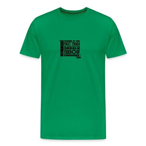 Man First Touch Of God - Men's Premium T-Shirt