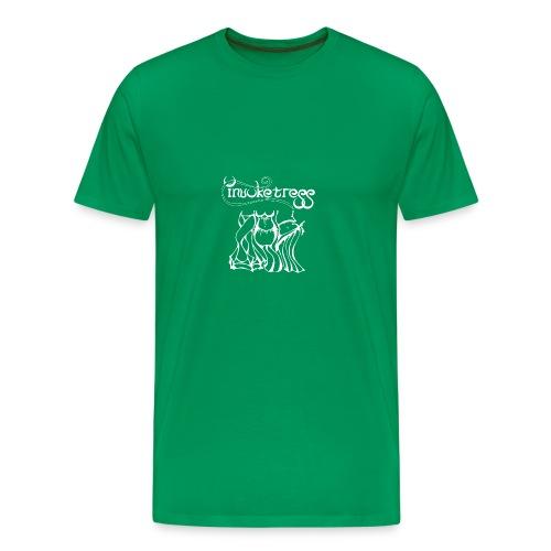 Invoketress Bellies Logo in White - Men's Premium T-Shirt