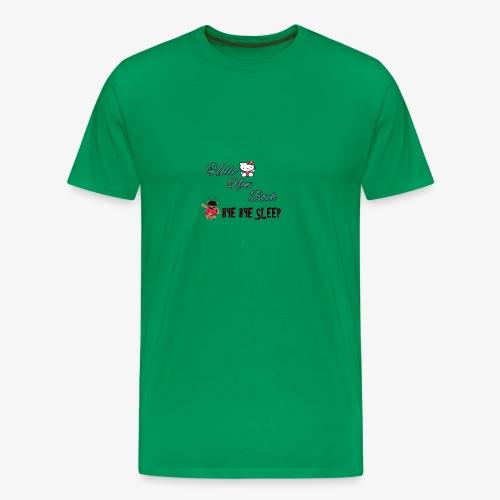 Hello New Book, Bye Bye Sleep - Men's Premium T-Shirt