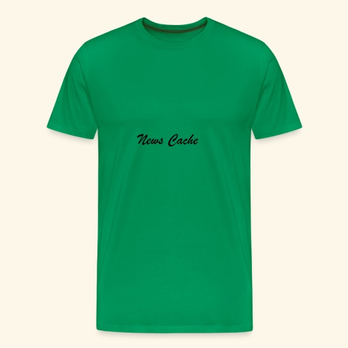 News Cache Black - Men's Premium T-Shirt