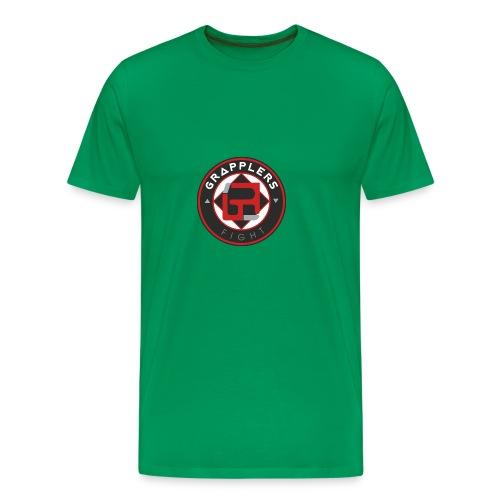 Dark 001 grapplersfight LOGO Back - Men's Premium T-Shirt