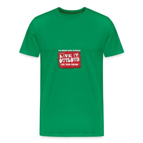 Live It OutLoud Logo - Men's Premium T-Shirt