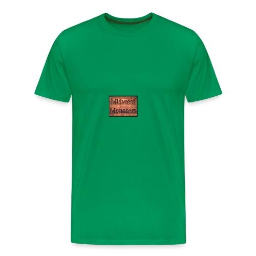 Midwest Monsters Wood Logo - Men's Premium T-Shirt