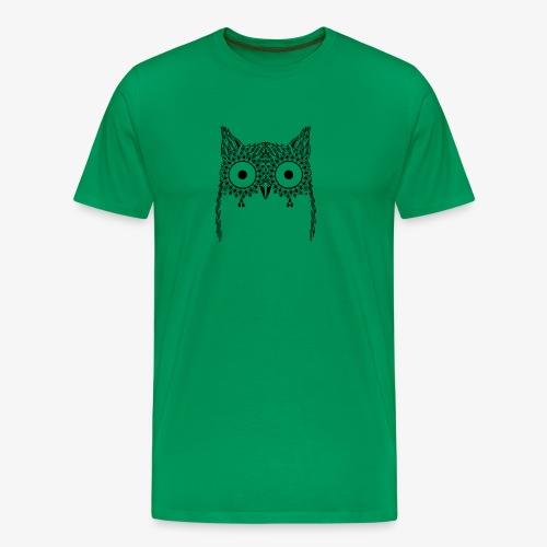 Black Owl Design - Men's Premium T-Shirt
