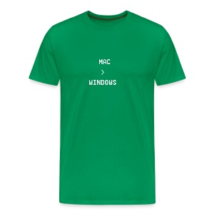 Mac is greater than Windows - Men's Premium T-Shirt