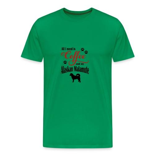 Alaskan Malamute Coffee - Men's Premium T-Shirt