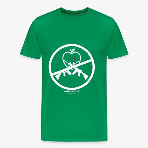 March In Step White Floating Logo - Men's Premium T-Shirt