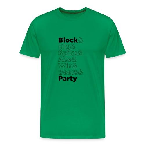 Block Party Outline - Men's Premium T-Shirt