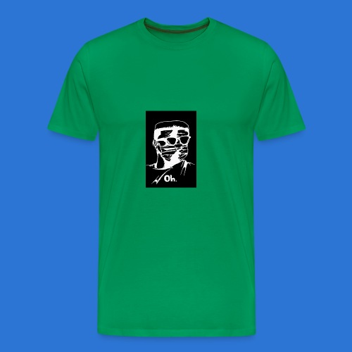 OMVRI Black n Whitee - Men's Premium T-Shirt