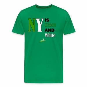 NY Green and White - Men's Premium T-Shirt