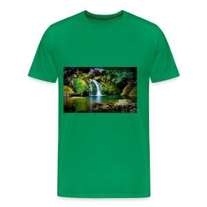 waterfall wallpaper desktop - Men's Premium T-Shirt