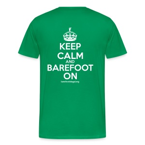 Keep Calm and Barefoot On - Men's Premium T-Shirt