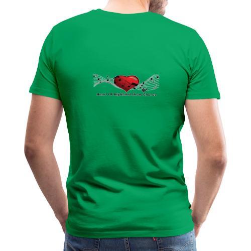 Lg transparent logo on back HOH Show Chorus - Men's Premium T-Shirt