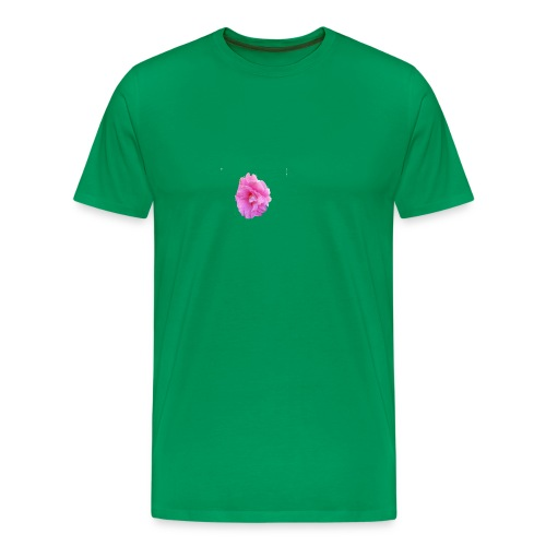 Shiny pink flower - Men's Premium T-Shirt