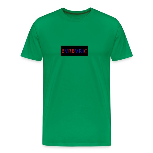 Red and blue Montage - Men's Premium T-Shirt
