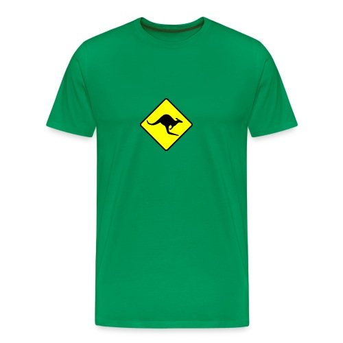 Kangaroo sign - Men's Premium T-Shirt